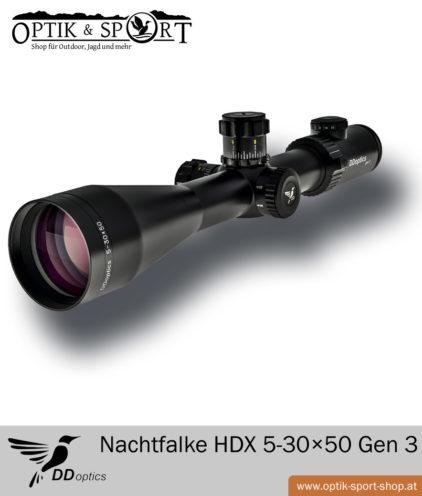 Zielfernrohr DDoptics Nachtfalke HDX 5-30×50 Gen 3