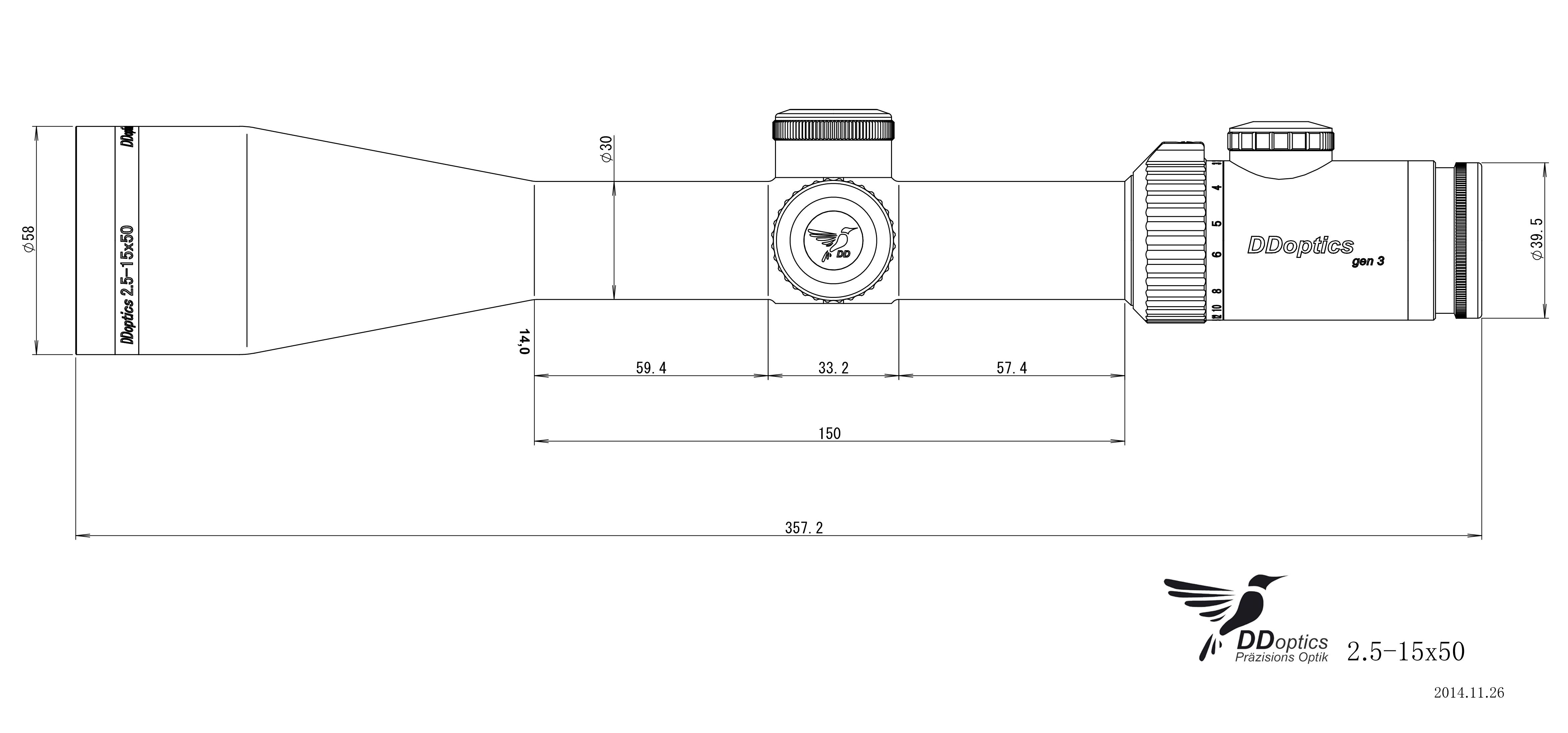 ics Zielfernrohr Zeichnung Nachtfalke 2,5-15x50