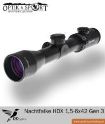 DDoptics Nachtfalke HDX 1,5-6×42 Absehen 4