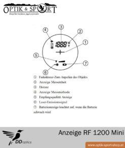 DDoptics Laser Entfernungsmesser RF 1200 Mini LCD Anzeige