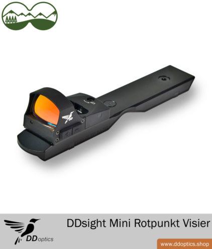 DDoptics DDsight Mini Rotpunkt Visier mit Dentler Montage Schiene
