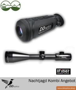 DDoptics Nachtjagdpaket 1 – Wärmebildkamera Nachtfalke IR50 + Zieloptik Nachtfalke 2,5-15×56 N-FX