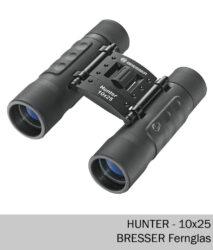Bresser Fernglas Hunter 10x25 - Mini Taschenfernglas
