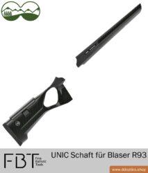 UNIC Carbon Schaft für Blaser R93 mit geteiltem Schaft von FBT